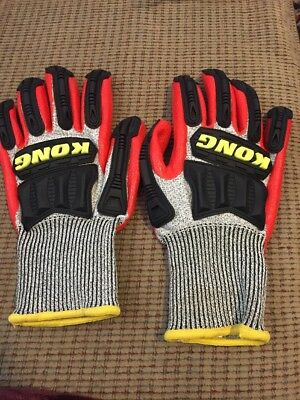Ironclad Kong Cut 5 Knit Gloves Gray/Red Large