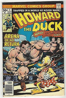 Howard The Duck 5! Gd+ 2.5! Great Bronze Age Marvel Comic!