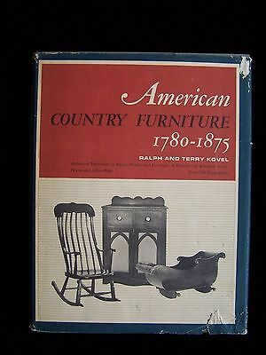 American Country Furniture 1780-1875--signed by Ralph & Terry Kovel--HC/DJ--1965