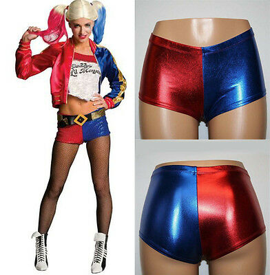 Halloween COS Harley Quinn Suicide Squad Shorts Womens Costume Shiny Hot Pants