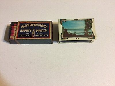Collectable Matchbox Holder Colac Vic And Independence Box Of Matches.