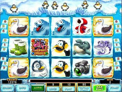 Funny Penguins Game Board By Astro - Vga 9 Or 25 Liner