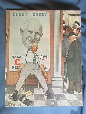 Vintage NORMAN ROCKWELL Print On Canvas THE DEFEATED CANDIDATE