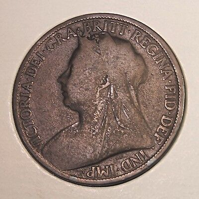 1897 UK (Great Britain) Penny  - Catalog KM#790