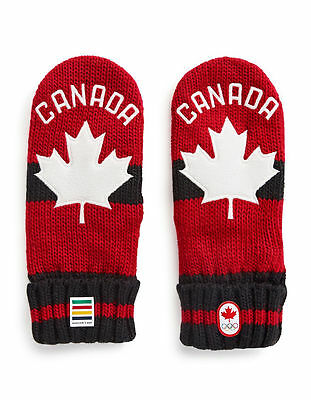 PyeongChang 2018 Team Canada Olympic Red Mittens - S/M, L/XL - FREE Shipping USA