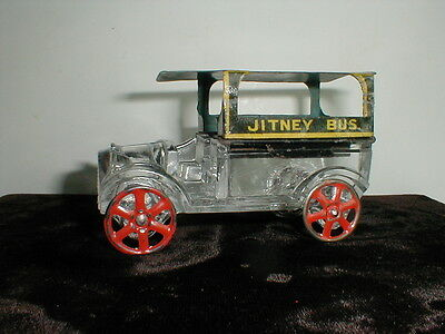 1916 Westmoreland Glass Candy Container - JITNEY BUS - West Bros.