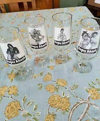 Sugar Shack male stripper glasses set of 4