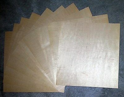"10x Maple wood veneer 12"" x 12"" raw no backing 1/40"" thickness ""A"" grade quality"