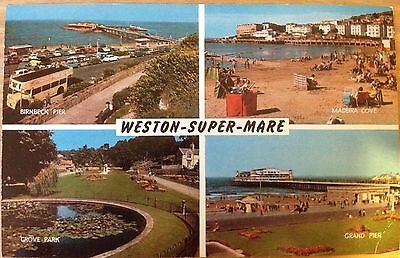 Weston Super Mare Swimming Pool Somerset Vintage Postcard Picclick Uk