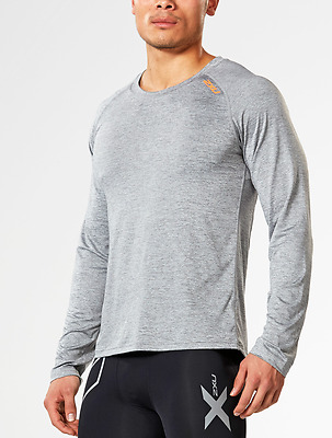 2XU Men's Urban L/S Top - LARGE - Grey