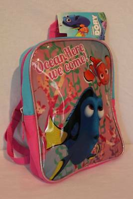 "NEW Toddler Girls Backpack Disney Finding Dory Nemo 10"" Book Bag School Tote"