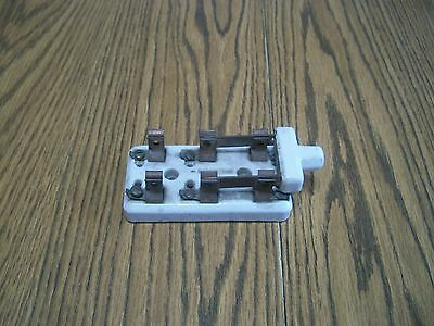 vintage porcelain throw switch electrical steampunk project part
