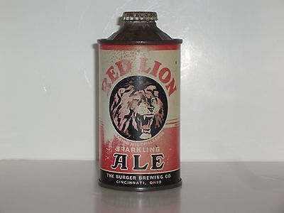 Super Rare Red Lion Beer Cone Top Beer Can
