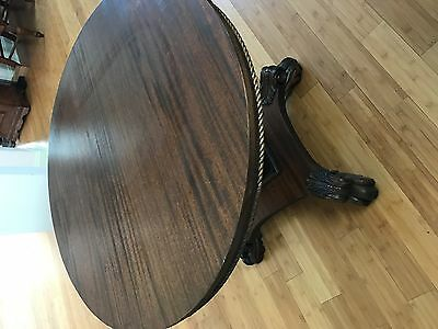 Antique Claw Foot Round Table