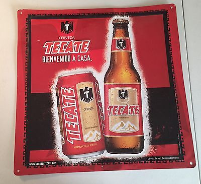 Tecate Cerveza Imported Mexican Beer Metal Sign 2006~Man Cave~Bar~Pub~Tavern