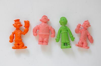 1980 Popeye Erasers set of 4 -Olive Oil, Brutus and Popeye