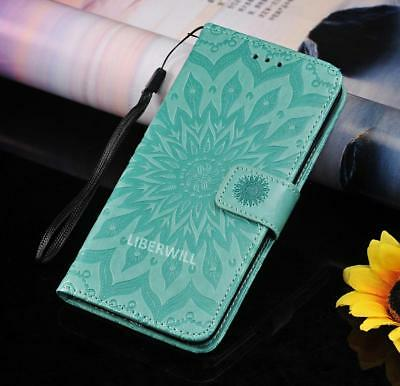 For Apple iPhone 5 5S SE Flip PU Leather Wallet Cover Case Stand Floral