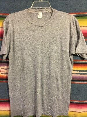 Vintage 80's Action Sportswear Paper Thin Rayon Tri Blend Blank T Shirt Large