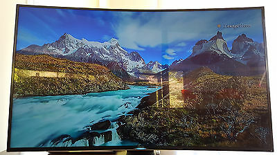 As New Samsung Series 9 Ultra Hd Led 4K 3D Curved 55 Inch Smart Tv  3Yr Warranty
