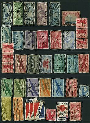 US Airmail worldwide collection:2 Pages