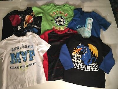 Lot Of 10 4T Long Short Sleeve Pullover Shirts Back To School Gymboree Bugle Boy