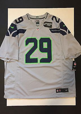 Nike NFL Seattle Seahawks Earl Thomas  29 Grey Jersey Mens Size 3XL e39cc35f2