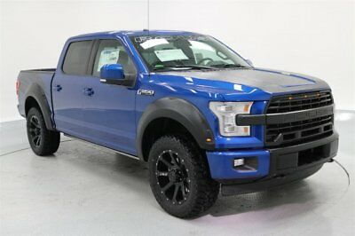 2017 Ford F-150 Loaded ROUSH Lariat 4x4 MSRP $74,654 Blue 2017 ROUSH Ford F150 4x4 Crew Cab Lariat Lightning Blue