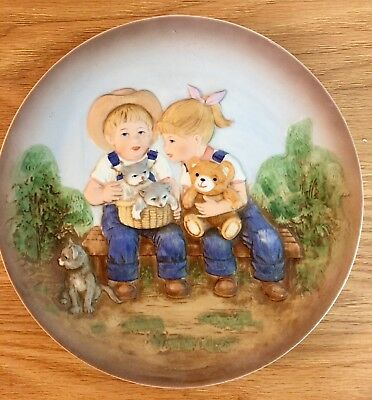 Home Interiors Homco Denim Days Porcelain Collectors Plate