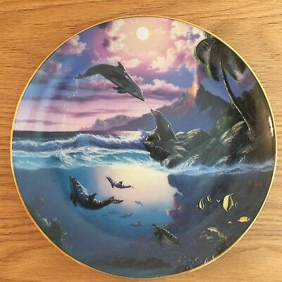 Bradford Exchange Dolphin Kisses - Sealed with a Kiss Collectors Plate