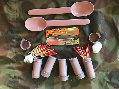 Army Matches Can Opener Survival Spoon Multicam Airsoft SAS Ration Pack Mre Fred