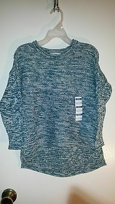 Girls Old Navy LS Green Hi-Lo Sweater Sz S (6-7) NWT