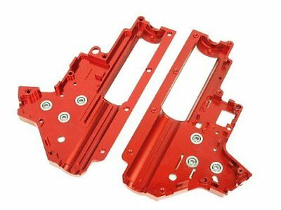 Airsoft Army Force CNC 8mm Bearing QD AEG Gearbox Shell Ver.2 Red