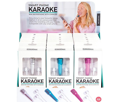 New IS Gift KARAOKE smart phone mini microphone with earbuds