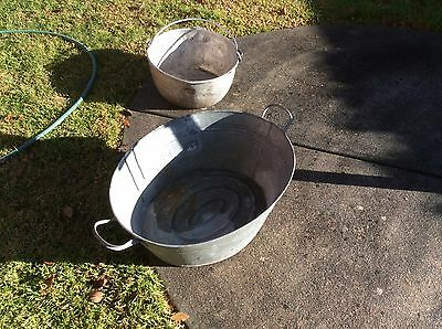 Vintage Babies Galvanized Bath - Suitable For Many Uses