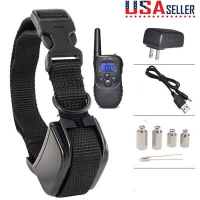 Waterproof Rechargeable Anti No Barking Collar Electric Shock Dog Train Collar