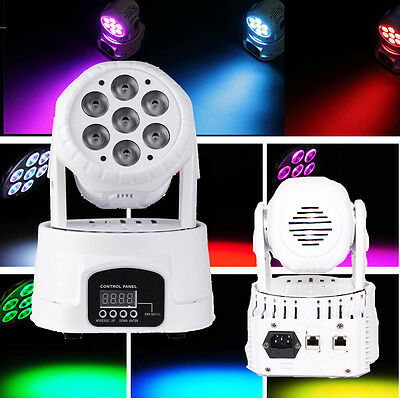 2PCS 140W RGBW LED Moving Head Stage Light DMX512 DJ Disco XMAS Party Lighting