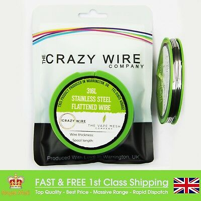 19 AWG (1.56mm x 0.56mm) - SS316L Grade Stainless Flat Wire - 10 Metre Spool