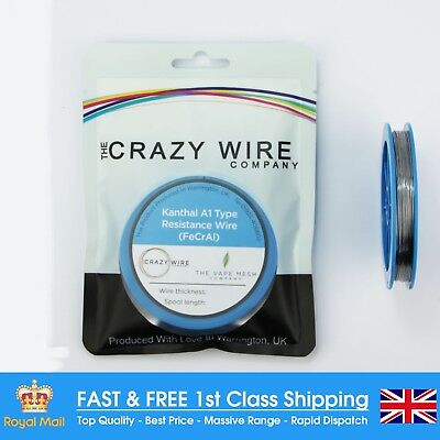 0.4mm (26 AWG) - 100 Foot Spool (30M) - Kanthal A1 (FeCrAl A1) - 11.46 Ohms/M