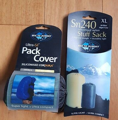 Sea to Summit Ultra-Sil Small Pack Cover PLUS FREE Sn240 XL Stuff Sack