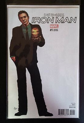 Infamous Iron Man # 1 Variant  Marvel Comics. Bagged/boarded