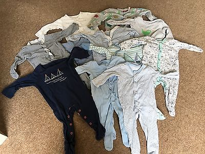 11 X Baby Grows Newborn ( Next / M&s / George ) 3 - 6 Months