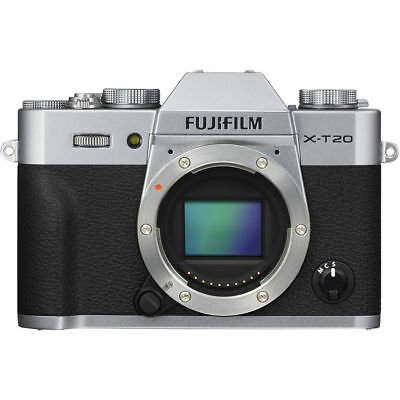 Brand New Fujifilm X-T20 Mirrorless Digital Camera Body Only 24.3MP - Silver