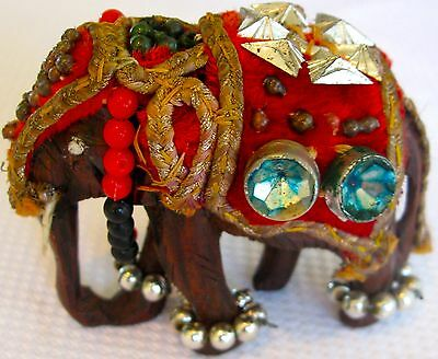 Collectable Retro Mixed Colours  Elephant Figural Ornament  (147)