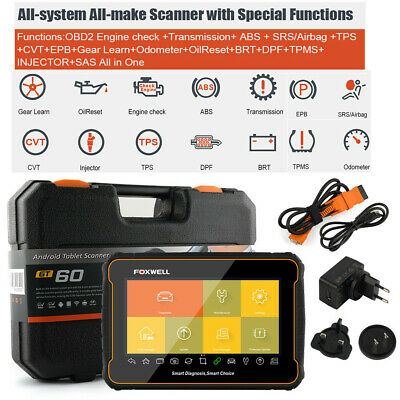 OBD2 Scanner Automotive ABS EPB Oil SRS Airbag EPB Oil Light TPMS AT Check Tool