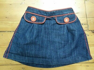 Denim skirt with pocket design by Next 12-18 months, very good condition