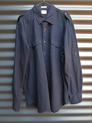 Drizabone Men's Black Long Sleeve Shirt Size XXL Hardware Fit Superfine