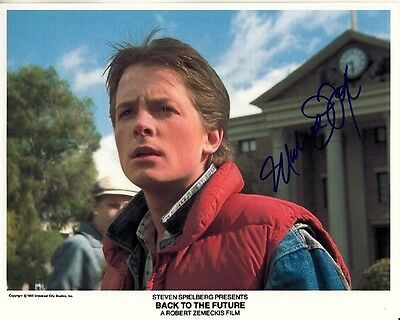 MICHAEL J FOX hand-signed BACK TO THE FUTURE 8x10 lifetime coa COURTHOUSE CLOCK