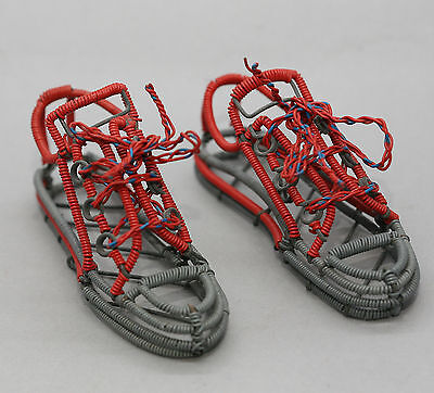 Very Cute Pair Of Sneakers Made Of Wrapped Wires Made By Australian Artist