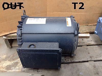 Leeson C213K34NB1AA Electric Motor 10HP 3500RPM 1PH Single Phase TENV 213T Frame