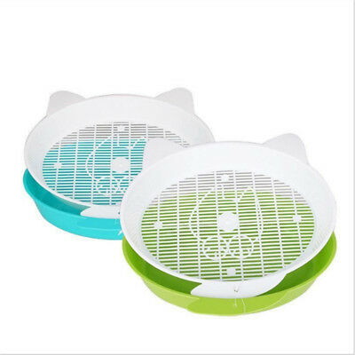 Kitten Cat Grid Litter Basin Tray Sand Dog Toilet Plastic Basin Pet Cleaning